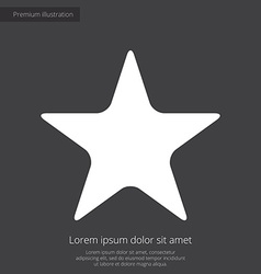 Star premium icon white on dark background vector
