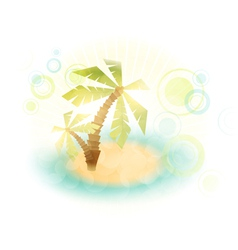 Summer island wth palm trees vector