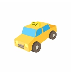Taxi car icon cartoon style vector image