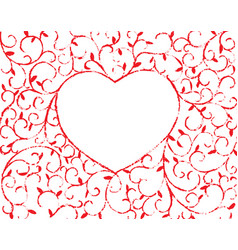 Vine heart vector