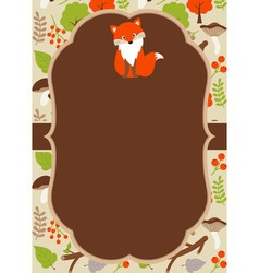 Woodland card vector
