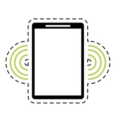 Mobile phone wifi internet signal dot line vector