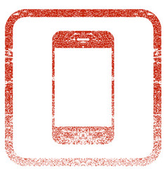 smartphone framed textured icon vector image