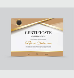 Template certificate of appreciation vector