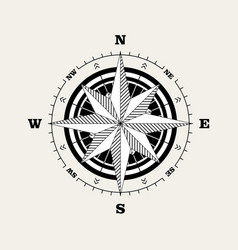 Compass rose windrose navigational scale vector