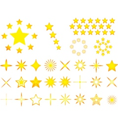 Yellow stars vector