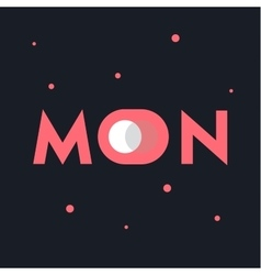 Moon concept logo with the double meaning vector