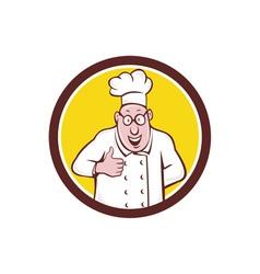 Chef Cook Thumbs Up Circle Cartoon vector image