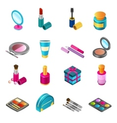 Cosmetics isometric set vector