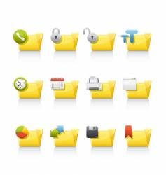 aplication folders vector image