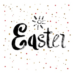 Easter calligraphy greeting card vector