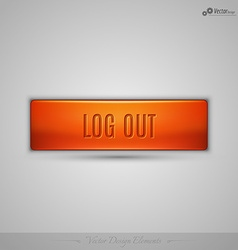 Orange web button with shadow on the gay vector