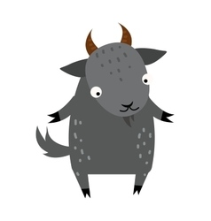 Cute cartoon gray goat mammal farm animal vector