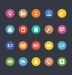 Glyphs colored icons 5 vector