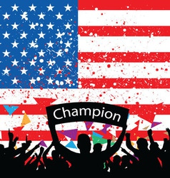 Crowd cheer america vector