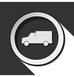 Icon - lorry car with shadow vector