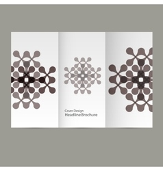 Pattern flyer with abstract figures vector