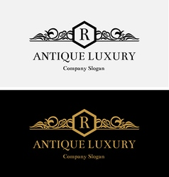 Antique luxury logo vector