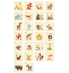 Animal alphabet set vector image