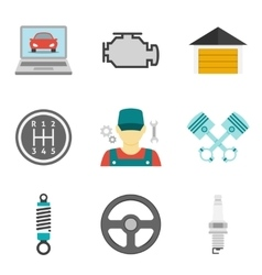Auto Service Icons Flat vol 2 vector image vector image