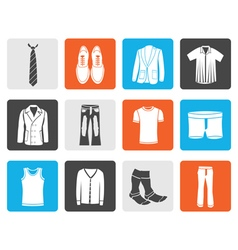 Black man fashion and clothes icons vector image