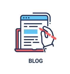 Blog - modern line design single icon vector