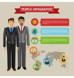 Business people infographic design vector