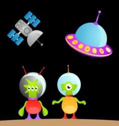 cartoon alien vector image