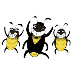 Cockroach happy cartoon vector