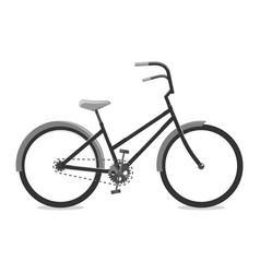 cycling black of a bicycle vector image vector image