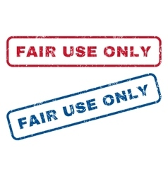 Fair use only rubber stamps vector