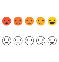 feedback emoticon set collection for vote vector image