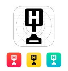 Hospital award icon on white background vector