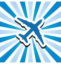 icon aircraft vector image vector image