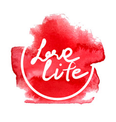 love life red vector image vector image