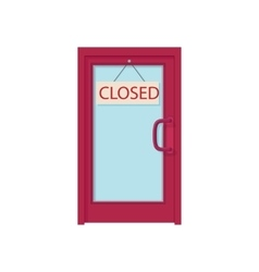 Open sign board hanging on the door icon vector