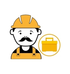 Plastic tool box worker construction vector
