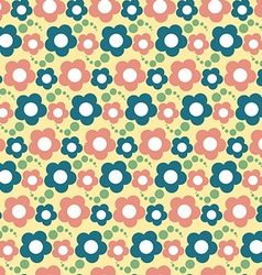 Seamless flower pattern floral background vector