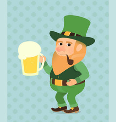 st patrick day green vector image