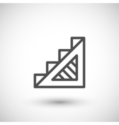 Stairs line icon vector image