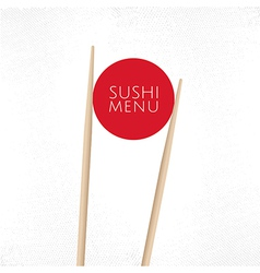 Sushi menu cover template vector