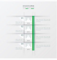 Timeline report design template green gradient vector