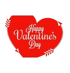 Valentines Day Border Heart Background vector image vector image