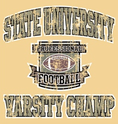 Varsity champ football vector image vector image