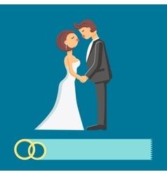Wedding couple flat vector