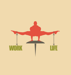 work and life balance concept of the scales vector image