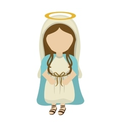 Mary holy family design vector