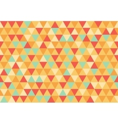 Retro triangle pattern happy day vector