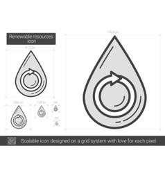 Renewable resources line icon vector