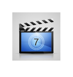 Movie player icon vector